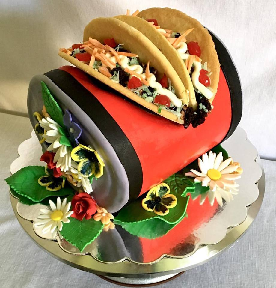 BEER CAN TACO CAKE