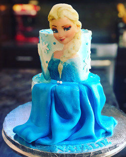 FROZEN THEME ELSA CAKE