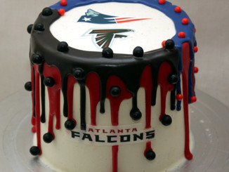 3TV Good Morning Arizona:  Super Bowl Drip Cake