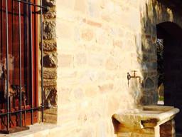 Particolare lavello in pietra