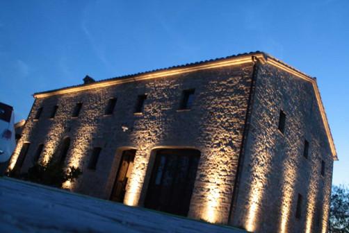 Casolare - Prove illuminazione notturna