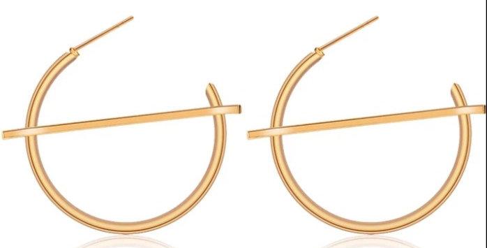 Cupid Cut Hoop Earrings