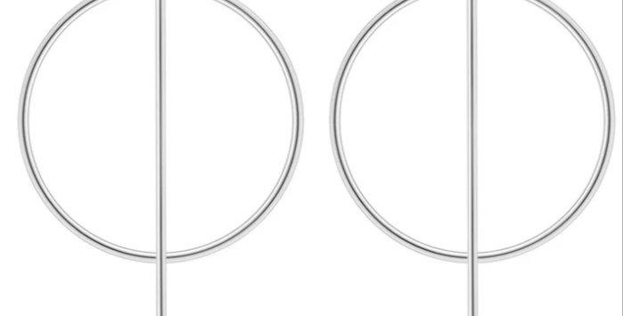 2x Around the World Hoop Earrings (Mix)