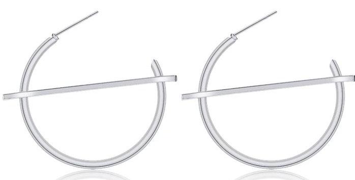 2x Cupid Cut Hoop Earrings