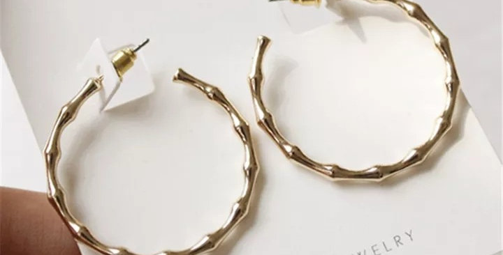 2x Be My Bamboo Hoop Earrings