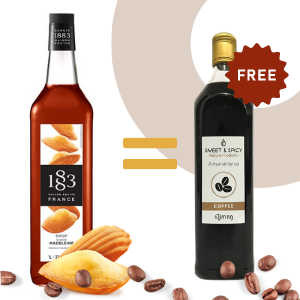 Buy French Madeleine syrup = 700ml Coffee syrup offer