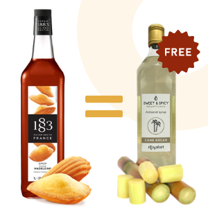 Buy French Madeleine syrup = 700ml Sugar Cane syrup offer