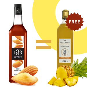 Buy French Madeleine syrup = 700ml pineapple syrup offer