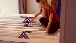 Stak rack paint trim