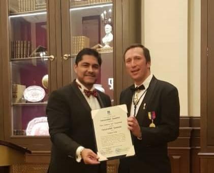 AMB Otto F. von Feigenblatt receives the Order of Merit of the Universidad de Yacambu (1st Class)