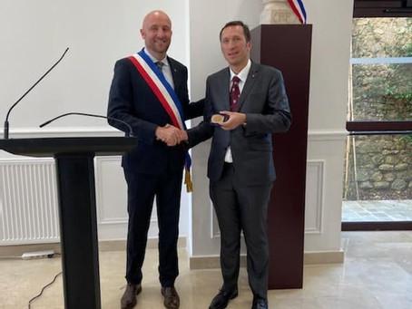 Ambassador Otto F. von Feigenblatt was honored by the City of Hardricourt (France)