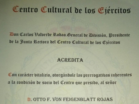 UCNE member receives rare honor from the Spanish Army
