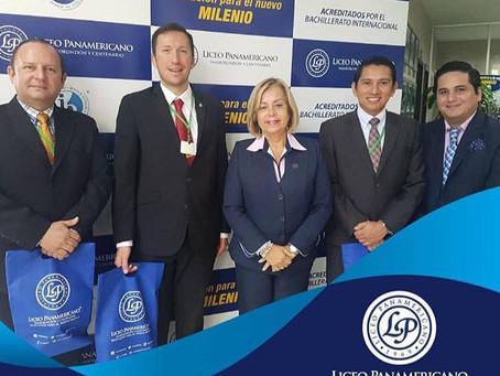 University authorities visit the Liceo Panamericano of Guayaquil, Ecuador