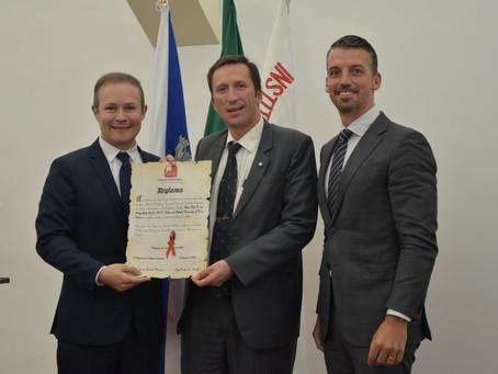 AMB von Feigenblatt receives honorary professorship from Portuguese University (Lisbon, Portugal)