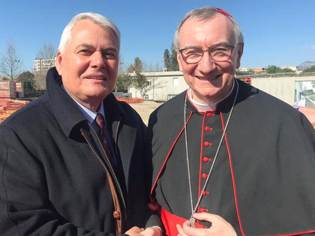 Member of the Advisory Board meets with the Cardinal Secretary of State of the Vatican.