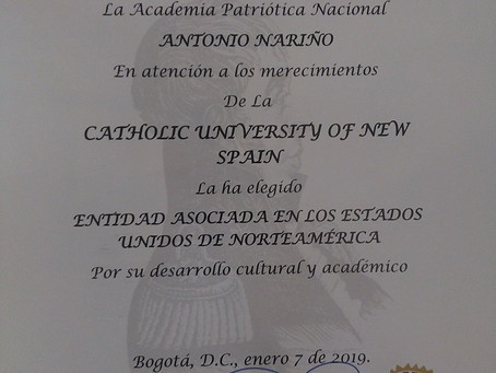 The Catholic University of Spain receives important recognition from Colombia