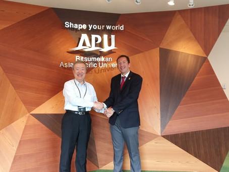 Official visit to Ritsumeikan Asia Pacific University (Beppu, Japan)