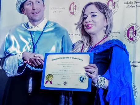 Maria Ratkova, world-class mezzo-soprano receives honorary doctorate (Miami, Florida)