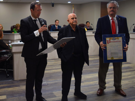 UCNE member receives proclamation from the City of Sweetwater, Florida