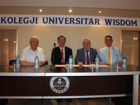 Rector was guest of honor in Academic Activity at Wisdom University (Tirana, Albania)