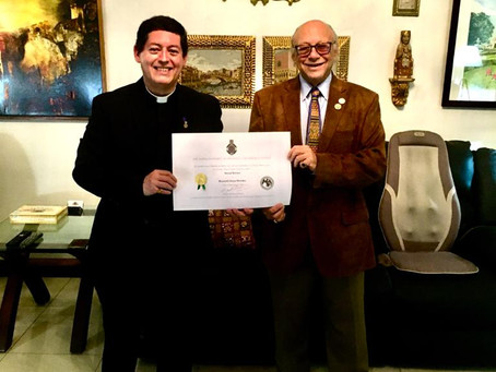Chaplain receives honorary doctorate