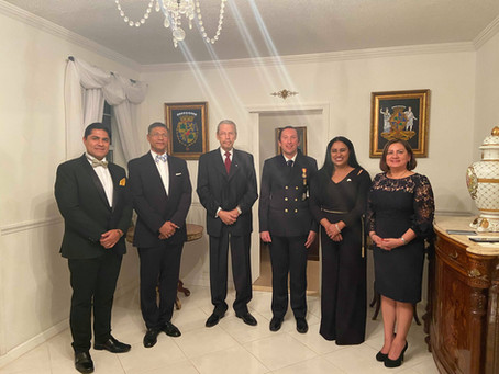 Private Dinner to honor the visit of the Rector of the Universidad Yacambu to Florida