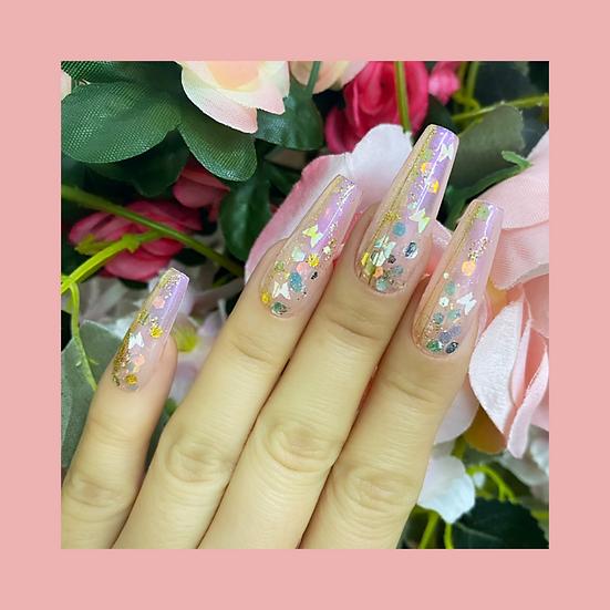 Butterfly Glitter Pot