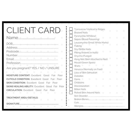 Client Cards x 25