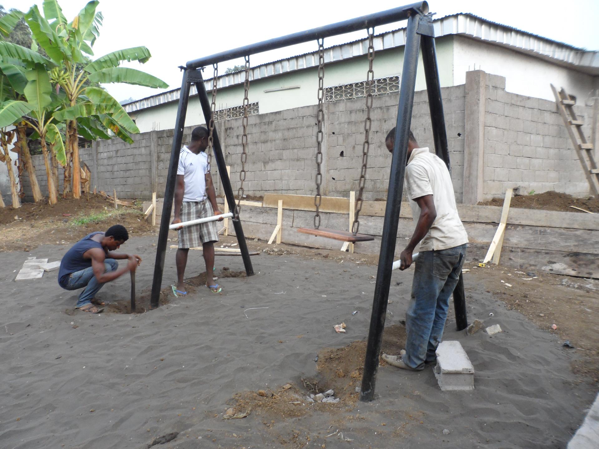 Bau der Schaukel