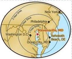 distance map for stevensville.JPG