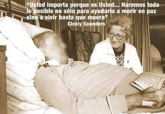 Cicely Saunders pionera del movimiento Hospices. Impulsora de lo cuidados paliativo en el ámbito médico