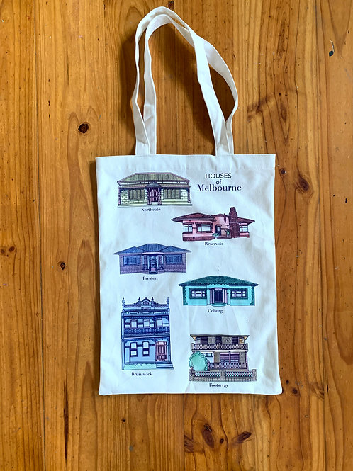 Houses of Melbourne Tote Bag