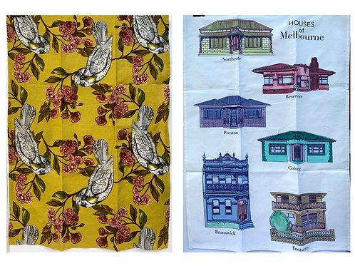 2 X Tea Towels & 2 Cards $40