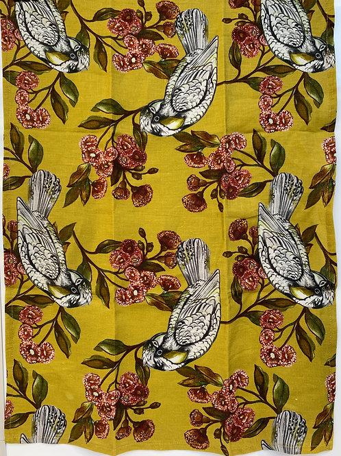Sulphur Parrot Tea Towel & Greeting Card