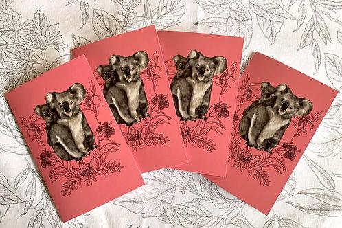 Greeting Card: Koalas 4 X $10