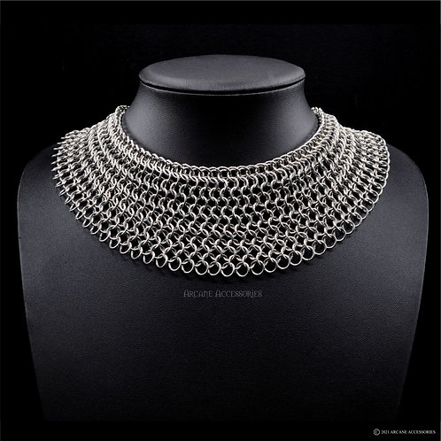 Euro 4-in-1 Broad Chainmail Necklace