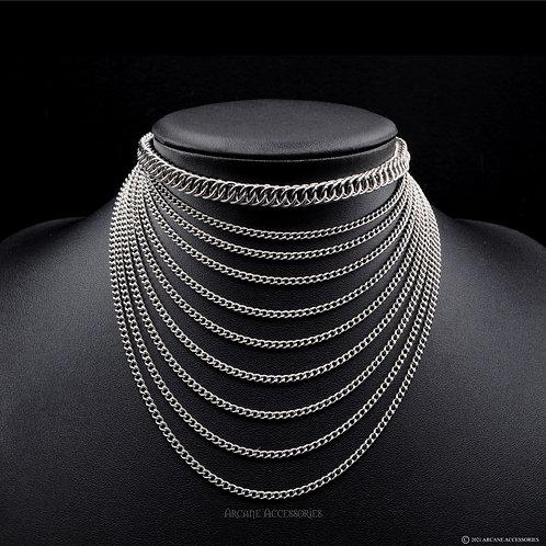 Half Persian Layered Chain Choker