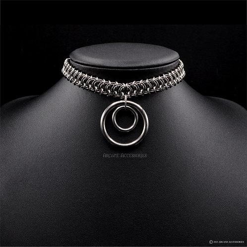 Vertebrae Double O Ring Choker (30 & 15mm)