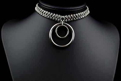 Vertebrae Double O Ring Choker (40 & 20mm)