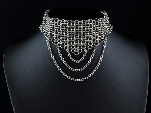 Euro 4-in-1 Broad Choker with Chain Detail