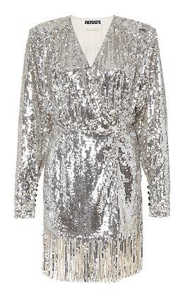 ROTATE | Sequined Fringe Dress