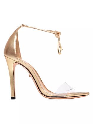 SCHUTZ | Ankle Tie Metallic Sandal