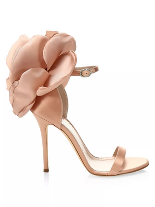 GIUSEPPE ZANOTTI | Peony Floral Silk Ankle Sandals