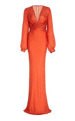 REBECCA de RAVENEL |Printed Silk Gown