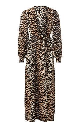 GANNI | Leopard Print Silk Dress
