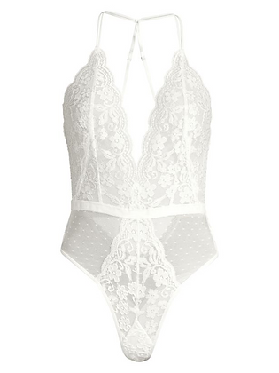 "IN BLOOM One-Piece ""SAY YES"" Lace Teddy"