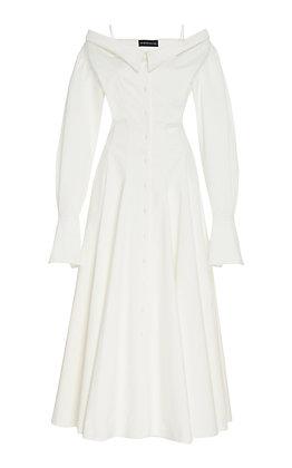 BRANDON MAXWELL | Off the Shoulder Dress