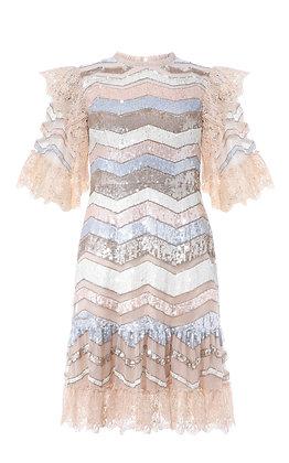 NEEDLE & THREAD |  Mini Sequin Dress