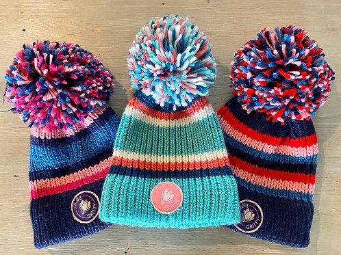 PG bobble hats