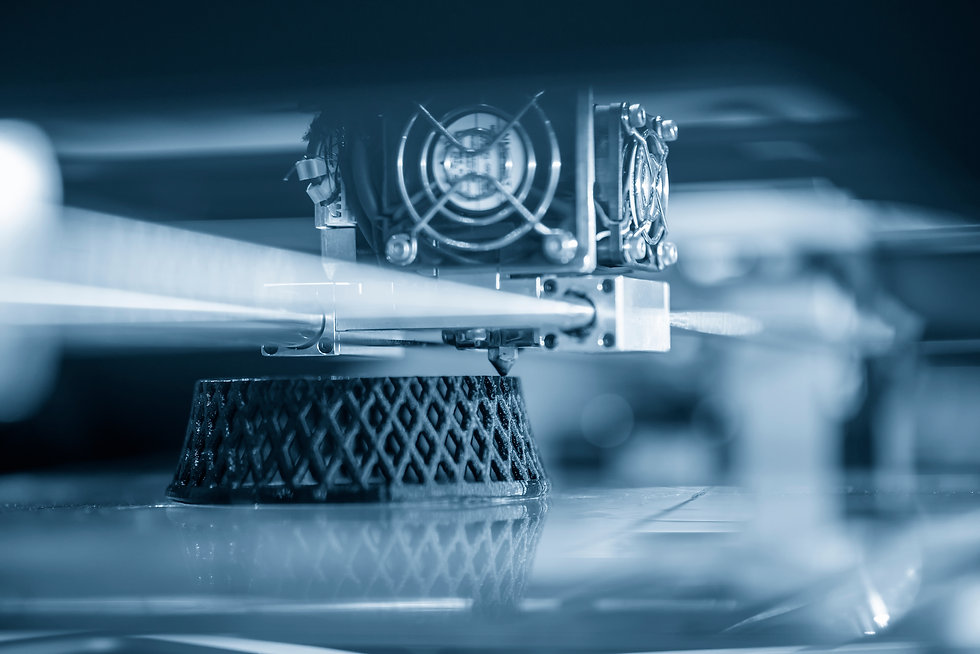 The 3D printing machine operation. The 3